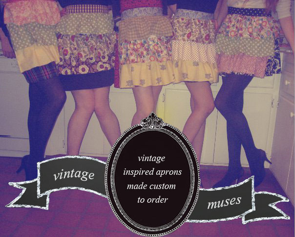vintage inspired aprons