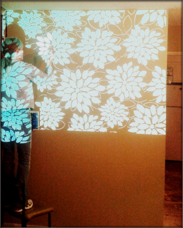 DIY mural and wallpaper
