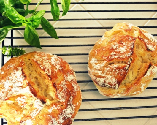 homemade bread in five minutes