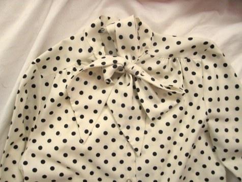 vintage ascot blouse