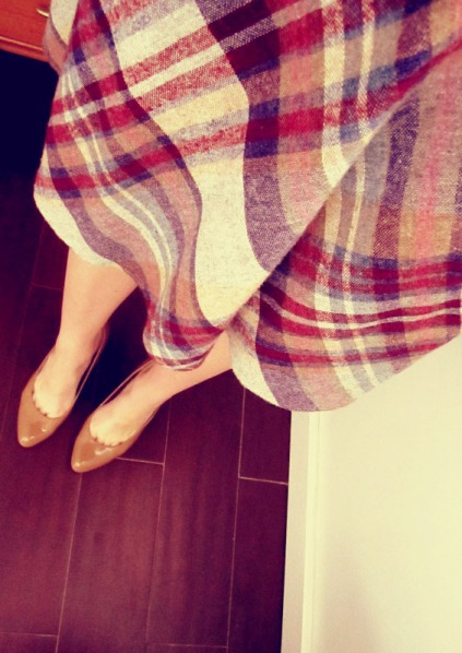 vintage plaid and wool skirt