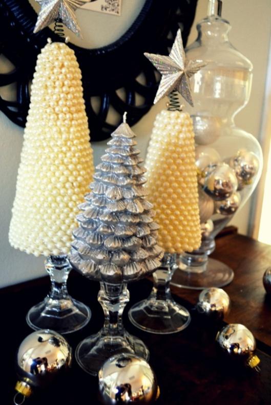 DIY Christmas pearl tree