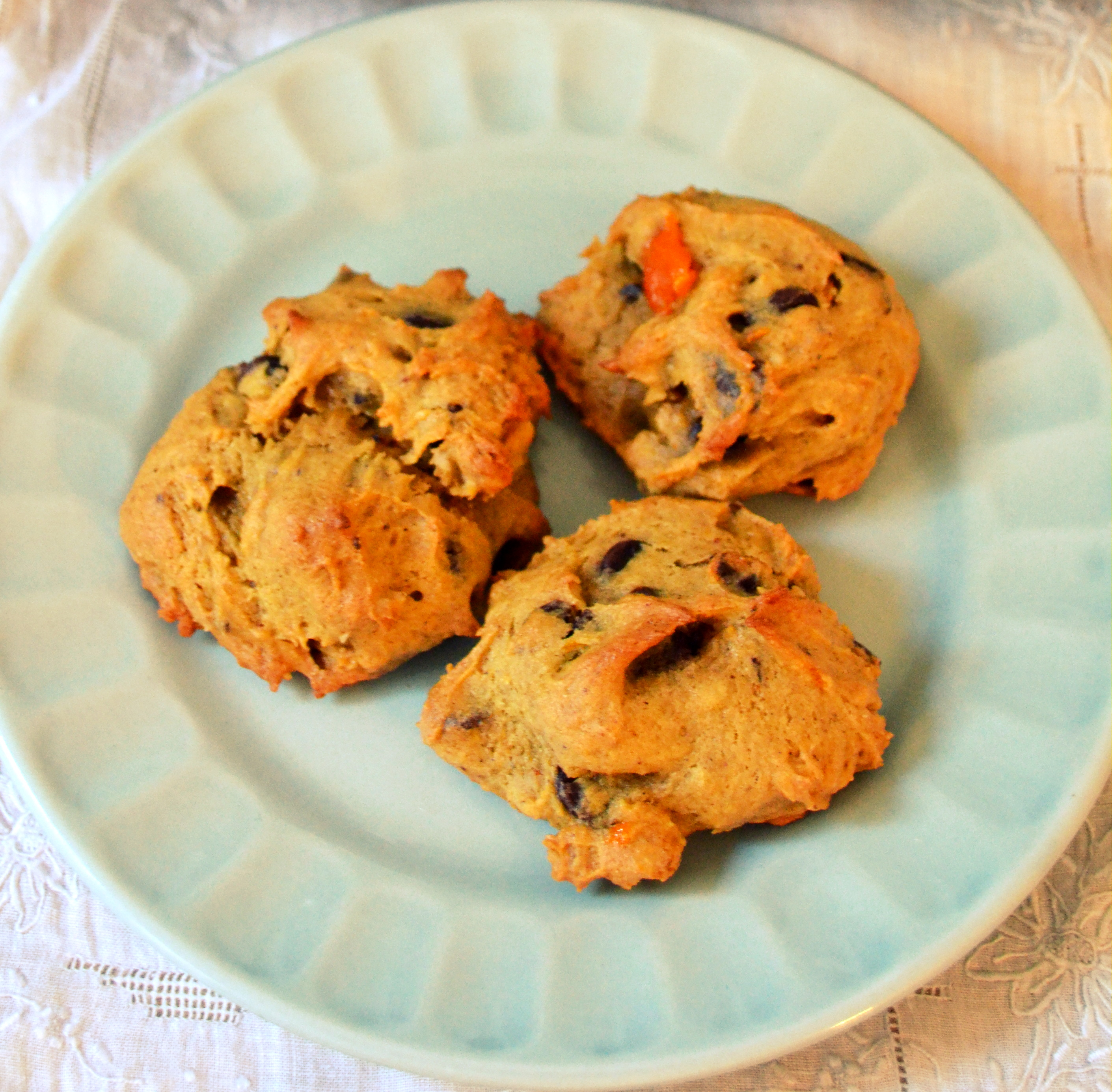 Persimmon Chocolate Chunk Cookies