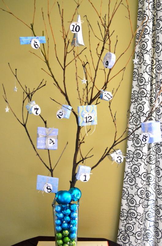 advent tree diy