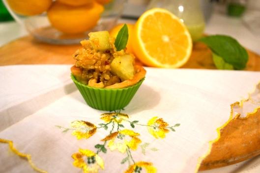 quinoa cucumber appetizer with lemon vinaigrette
