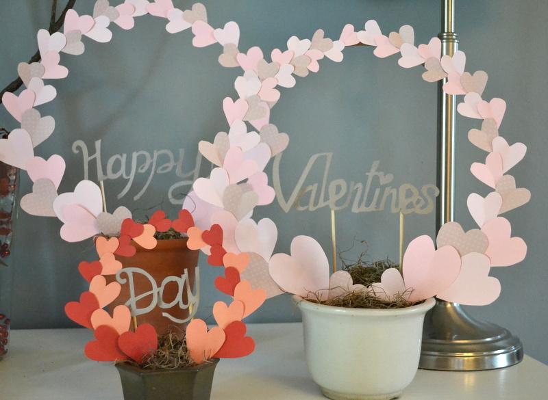 diy valentines topiary