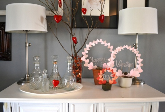 diy valentines centerpieces