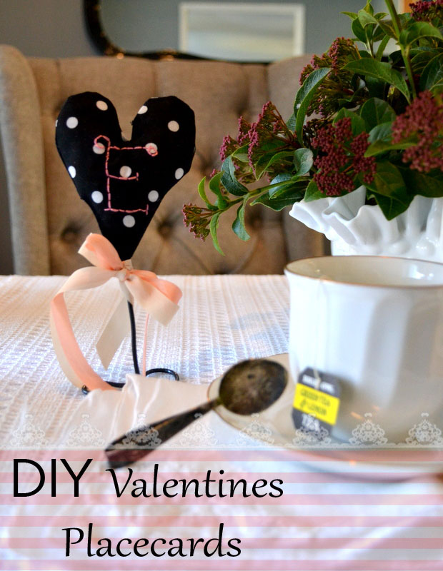 diy valentines handstitched place cards