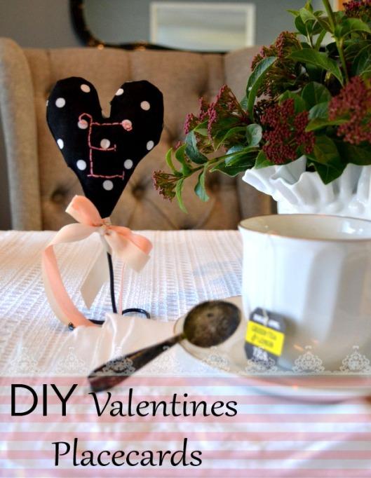 diy valentines handstitched place cards