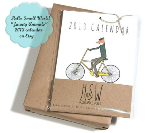 HelloSmallWorld vintage animal calendar