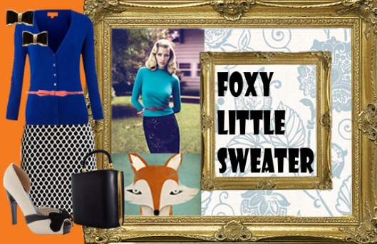 vintage sweater girl outfit