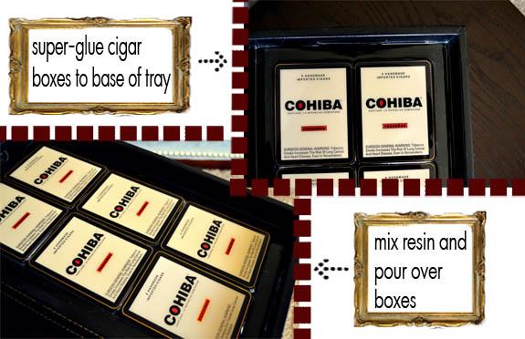 diy cohiba coffee table tray