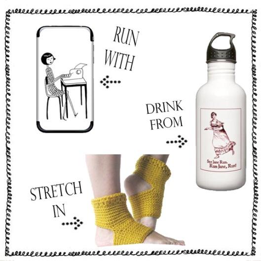 ipod skin yoga socks water bottle