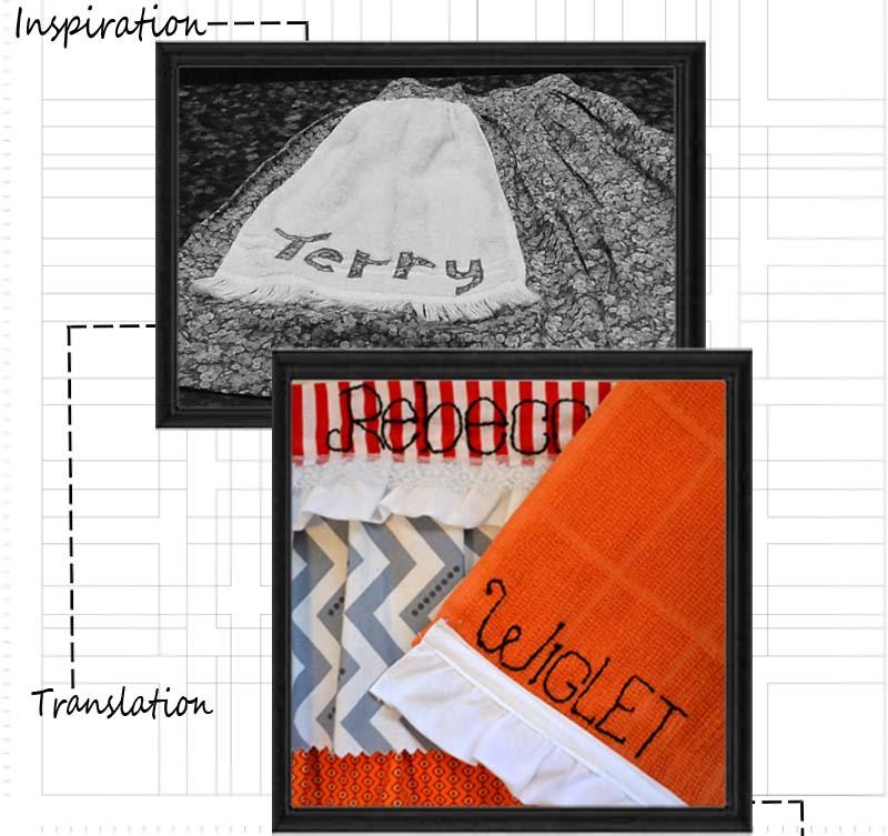 custom vintage half apron