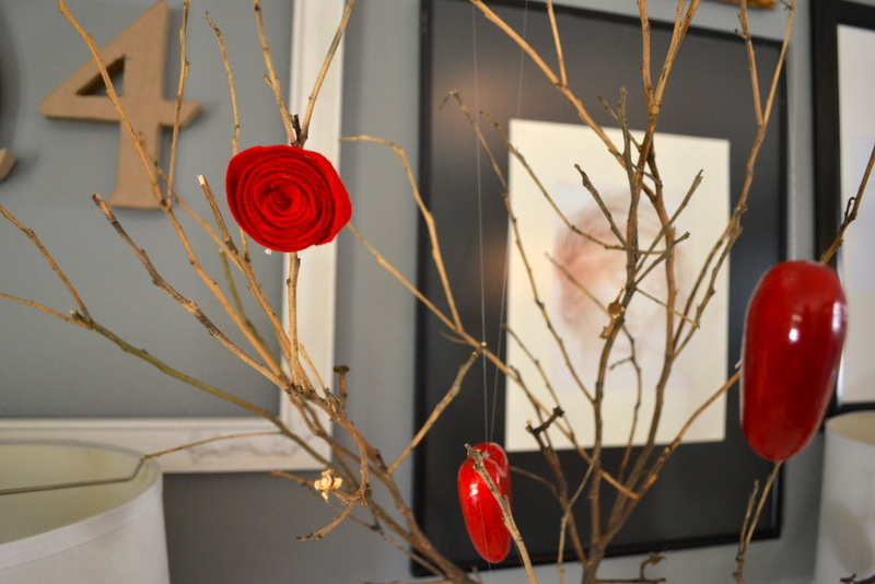 diy rose valentine tree