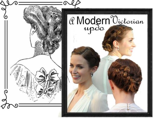 victorian styled updo