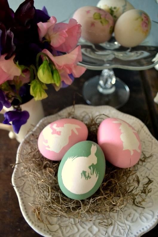 diy hand painted eggs