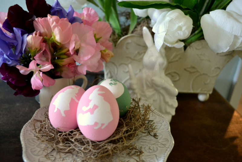 vintage hand painted easter eggs