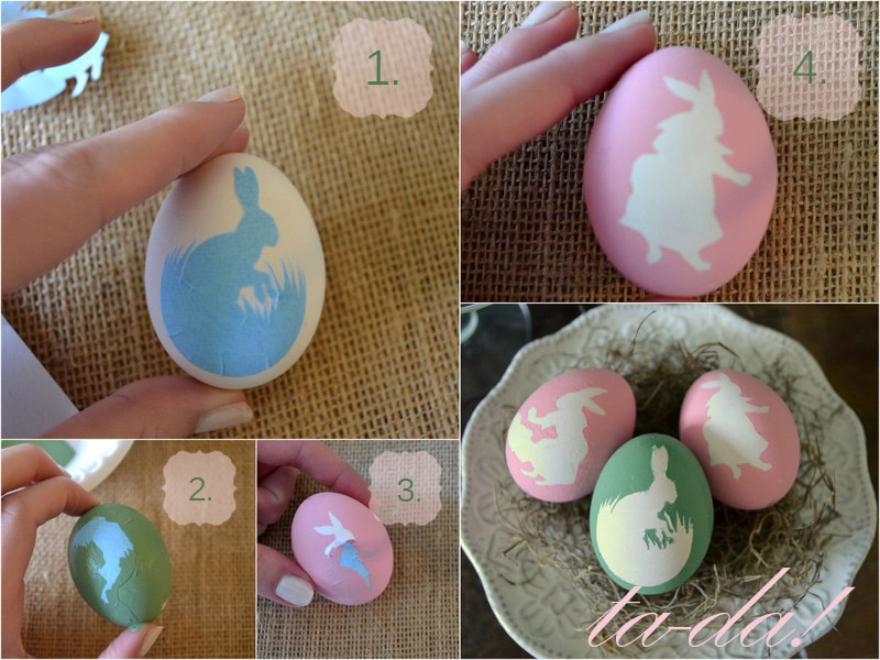 DIY hand painted eggs