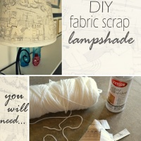 Fabric-Scrap Lampshade: DIY