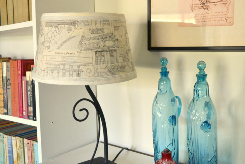fabric scrap lampshade