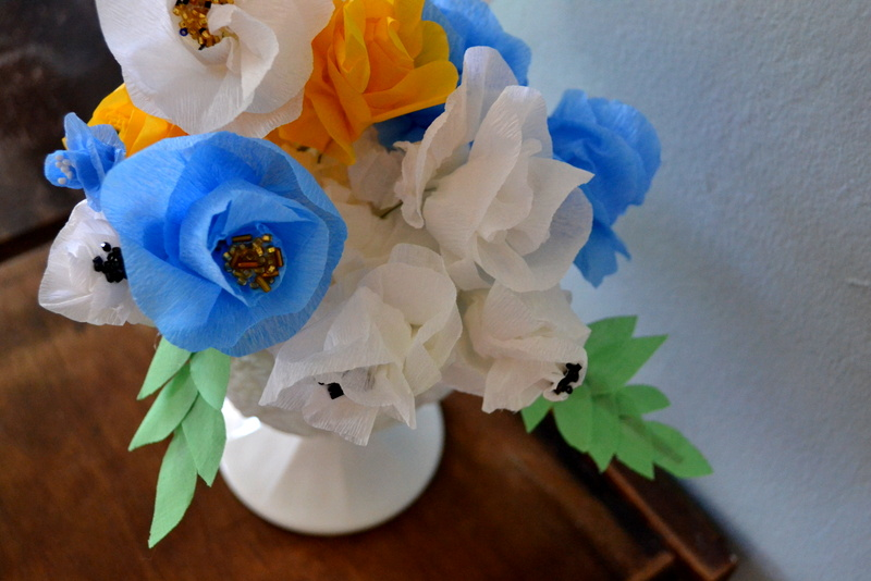 diy may day crepe flowers