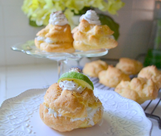 lime coconut cream puff
