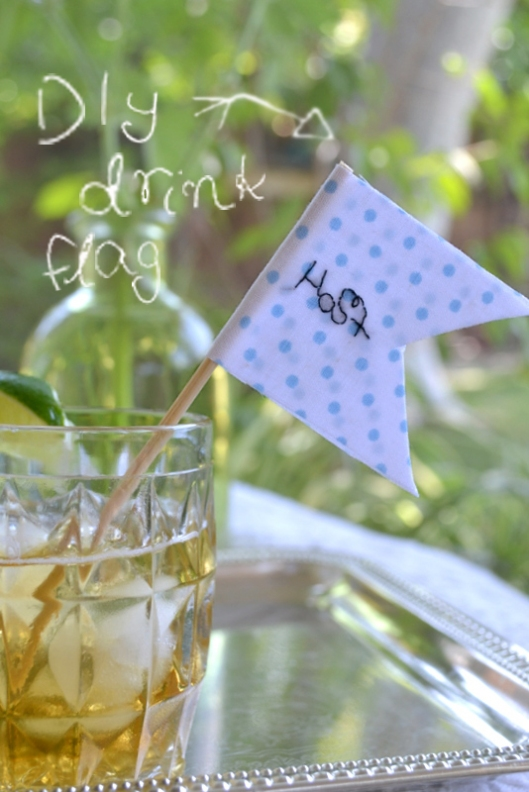 diy drink flags