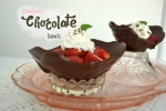 strawberry chocolate bowls