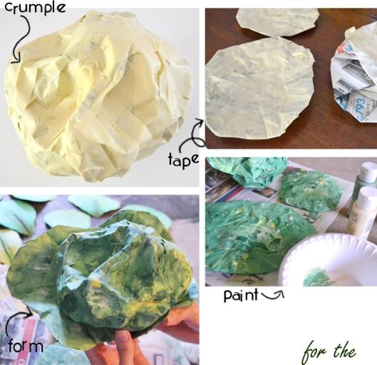 diy paper vegetables