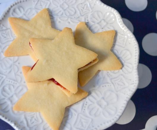 shortbread jam stars