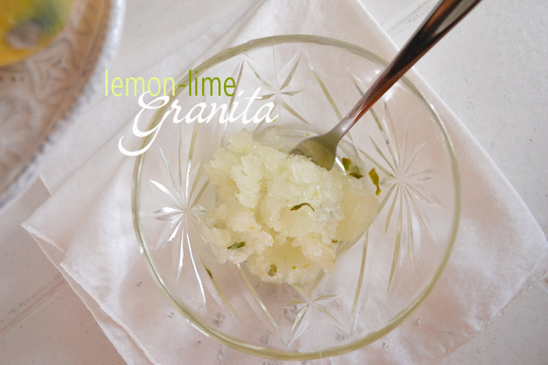 lemon lime granita