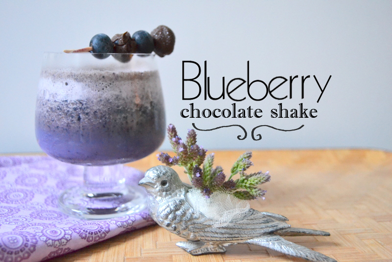 blueberry chocolate shake